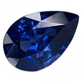 saphir bleu 0 20 ct taille poire www gemmes pierres com. Black Bedroom Furniture Sets. Home Design Ideas