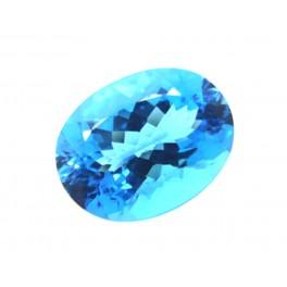 Pierre pr/écieuse en Vrac pour la Fabrication de Bijoux Topaze Bleue Suisse Taille Ovale REAL-GEMS Topaze Bleue Suisse de qualit/é sup/érieure 9,00 CT